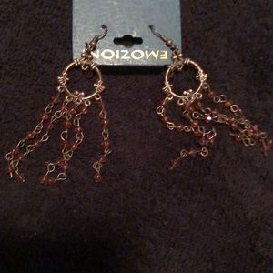 Bronze dangling earrings